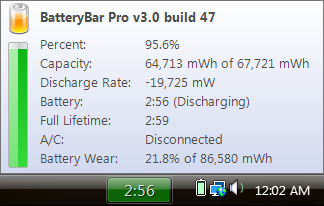 BatteryBar Tooltip