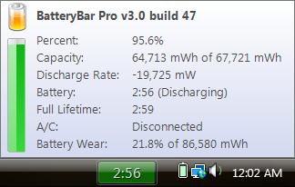 BatteryBar Tooltip