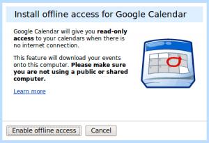 Offline Google Calendar