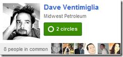 Dave's Google+ Miniprofile