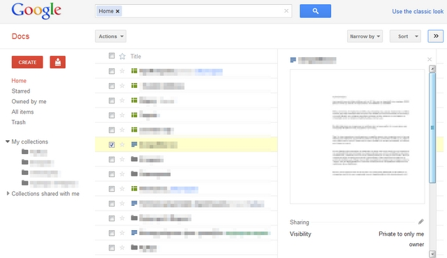Google Docs Redesigned like Google+