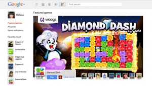 Google+ Games Screenshot