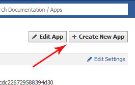 Facebook Create New App Dialog