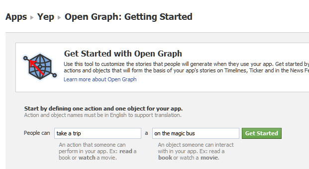 Facebook OpenGraph Getting Started