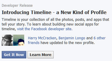 Facebook Introducing Timeline profile