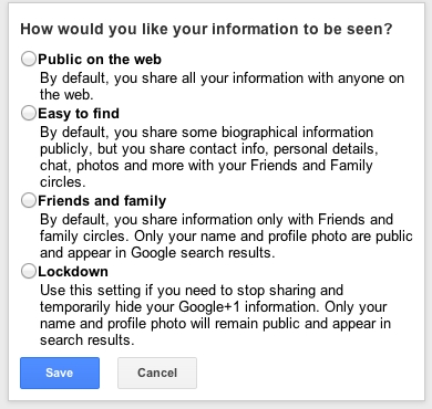 Google+ New Privacy Settings