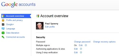 Remove Google authorization