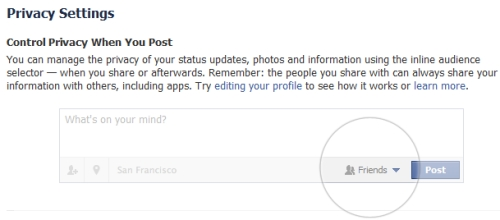 Facebook Privacy Screen