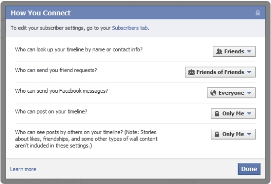 Facebook Timeline Privacy - How You Connect