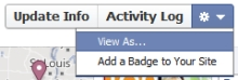 Facebook Timeline Privacy - view as someone else