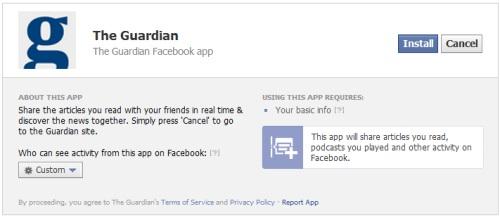 Facebooks Frictionless Sharing