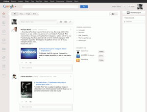 New Google+ User Interface