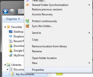 Google Drive set folder properties