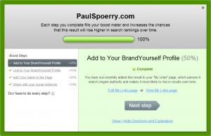 BrandYourself boost your profile Paul Spoerry