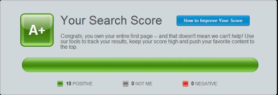 BrandYourself Search Score Paul Spoerry