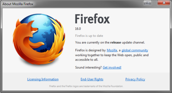 Firefox 16 download now