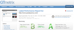 Bluehost GTMetrix report for Bluehost $3.95 Special