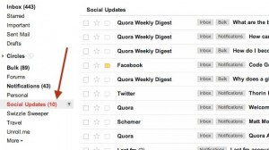 GMail Smart Labels for Social Networks