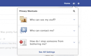 Facebook Privacy Settings Shortcuts