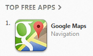 Google Maps #1 free app on iOS