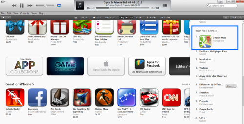 Google Maps top iTunes free app