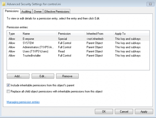 automatically log off user window advanced perms