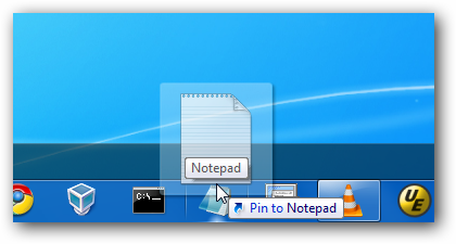 Pin to Notepad