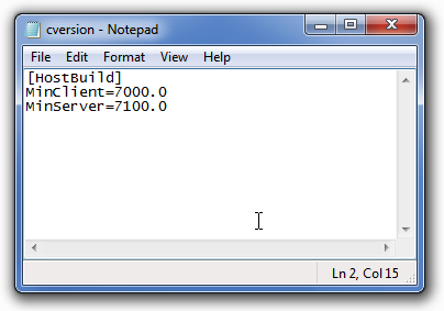 Editing cversion file